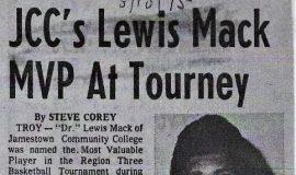 JCC's Lewis Mack MVP AT Tourney. March 10, 1975.