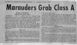 Marauders Grab Class A Crown With 90-62 Victory.  March 17, 1973.