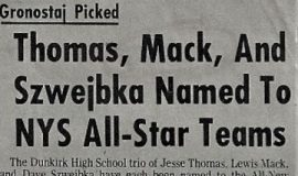 Thomas, Mack, And Szwejbka Named To NYS All-Star Teams. 1973.