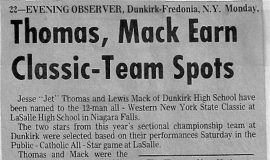 Thomas, Mack Earn Classic-Team Spots. 1973.