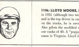 Lloyd Moore in  NASCAR program book, 1952.