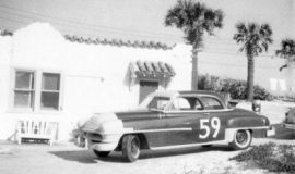 1952 Chrysler owned by Julian Buesink that Moore drove in the 1952 Daytona NASCAR race.