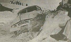 Lloyd Moore at Daytona, 1950.
