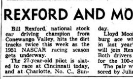 Rexford And Moore Ready To Roll. March 28, 1951.