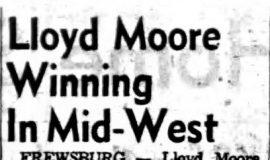 Lloyd Moore Winning In Mid-West. August 5, 1953.