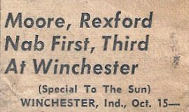 Moore, Rexford Nab First, Third At Winchester. October 15, 1950.