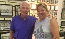 Bill Race and Lori Franchina at the CSHOF.
