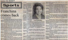 Franchina Comes Back. May 1993.