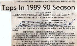 Post-Journal Girls Basketball All-Stars, 1989-90.