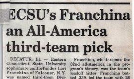 ECSU's Franchina an All-America third-team pick. 1993.