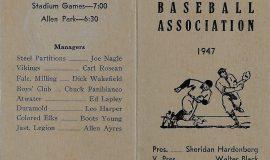 1947 Jamestown Baseball Association.