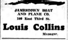 Advertisement in Jamestown Evening Journal, July 3, 1930.