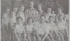 Koch's Annies. Luella Kye, third from right in back row.