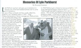 Memories Of Lyle Parkhurst  page 1. Lead Off Magazine, 2005.