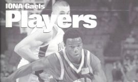 Maceo Wofford  on cover of Iona College Players guide.