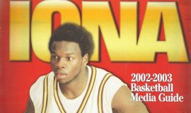 Maceo Wofford  on cover of Iona College Media Guide, 2002.