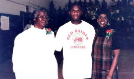 Hattie, Maceo, and Carrie Wofford, 1999.