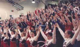 Jamestown High School gym crowd, 1999.