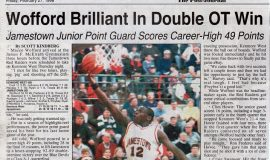 Wofford Brilliant In Double OT Win. February 27, 1998.
