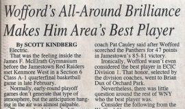 Wofford's All-Around Brilliance Makes Him Area's Best Player. Page 1. March 29, 1999.