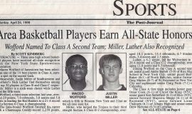 Area Basketball Players Earn All-State Honors. April 24, 1999.