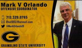 Mark Orlando's business card, 2020.