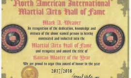 North American International Martial Arts Hall of Fame.