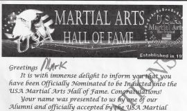 Martial Arts Hall of Fame.