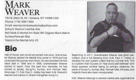 Mark Weaver's biography in <em>Action Martial Arts Magazine Who's Who</em>.