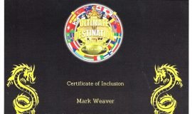 Mark Weaver was included in the  2019 publication <em>Action Martial Arts Magazine Who's Who</em>. This is his certificate of inclusion in that book.