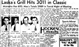 Laska's Grill Hits 3011 in Classic. December 29, 1948.