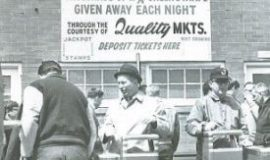 Marty Haines working at the turnstiles at College Stadium