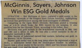 McGinnis, Sayers, Johnson Win ESG Gold Medals.