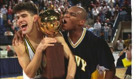 Patriot League Champions, 1997. Michael Heary and Hassan Booker.L Champ Heary-Book
