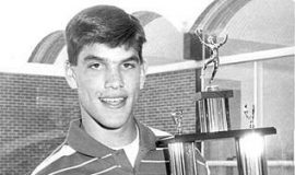 Michael Heary in 1994 - his senior year at Fredonia Central - holding the Scrubby Olson Award - presented to the top high school basketball scorer in the Post-Journal circulation area.