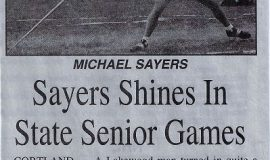 Sayers Shines In State Senior Games. Circa 2015.