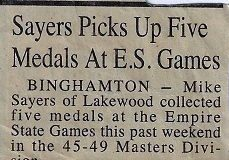 Sayers Picks Up Five Medals At E.S. Games. Circa 2000.