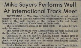 Mike Sayers Performs Well At International Track Meet.