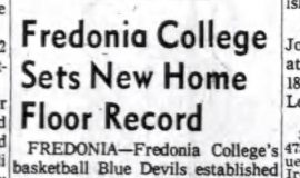 Fredonia College Sets New Home Floor Record. January 7, 1963.