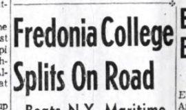 Fredonia College Splits On Road. January 8, 1962.