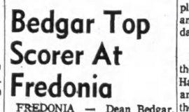 Bedgar Top Scorer At Fredonia. February 25, 1963.