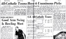 All-Catholic Teams Have 6 Unanimous Picks. March 8, 1960.
