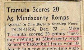 Tramuta Scores 20 As Mindszenty Romps. December 23, 1960.