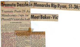 Tramuta Dazzles As Monarchs Rip Ryan, 51-36. March 1960.
