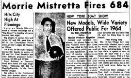 Morrie Mistretta Fires 684. January 30, 1964.