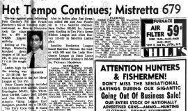 Hot Temp Continues; Mistretta 679. October 15, 1964.