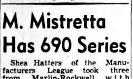 M. Mistretta Has 690 Series. October 23, 1948.