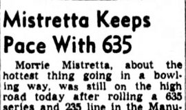 Mistretta Keeps Pace With 635. November 16, 1948.