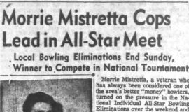 Morrie Mistretta Cops Lead In All-Star Meet. November 23, 1953.