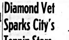 Diamond Vet Sparks City's Tenpin Stars. February 20, 1943.